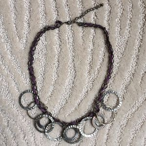 Overlapping circle necklace